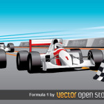 Формула 1 в векторе. Гоночные автомобили, гонки.