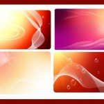 Четыре векторных фона для визиток