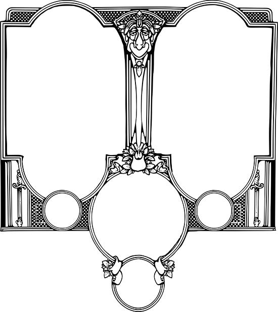 черно-белые рамки, винтаж, рисунок в векторе, EPS, PNG