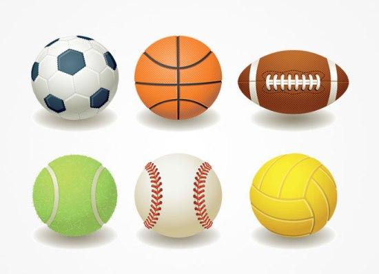 Мячи для спорта в векторе