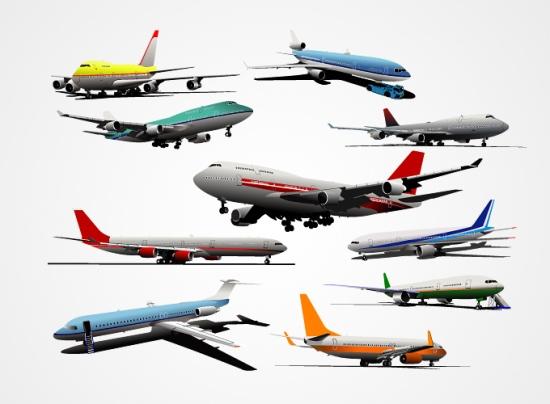 самолеты, Боинг, полет, взлетающий, летящий самолет, рисунок в векторе, AI