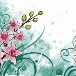 Векторный фон открытка с лилиями