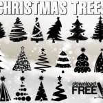 Клипарт рисунки новогодних елок