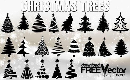 Новый год, новогодние елки, клипарт, рисунки новогодних елок, новогодняя елка, рисунок в векторе, AI, EPS, PNG