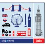 Векторный клипарт, иконки Лондон, Англия, английский язык, Бик Бен, флаг в векторе.