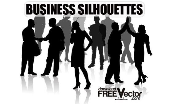 Картинки бизнес вумен и бизнесменов в векторе. Силуэт, трафарет.