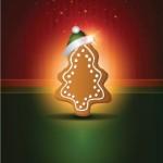 Елка в виде печенья с новогодней шапкой