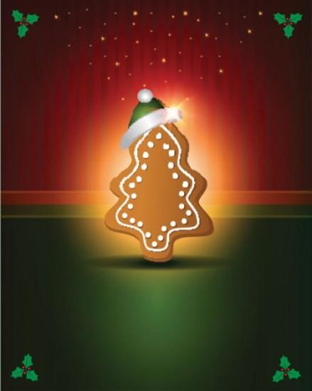 Новый год, новогодняя елка, шапка, в векторе, EPS