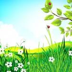 Векторный дизайн ветки дерева в солнечный день