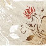 Векторный цветочный фон гранж