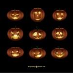 Тыквы для Хэллоуина в векторе.