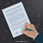 Документ в векторе. Подписание контракта.