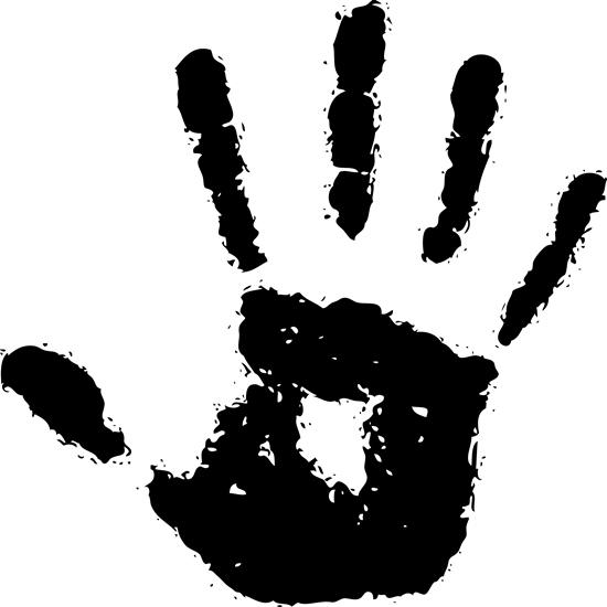 рука, ладонь, пальцы, человек, черно-белый векторный рисунок, PNG, EPS