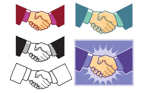 Рукопожатие в векторе.
