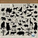 Животные и птицы, растения. Кошка, филин, кони, лошади. Кисти для фотошопа.