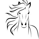 Логотип Голова лошади в векторе.