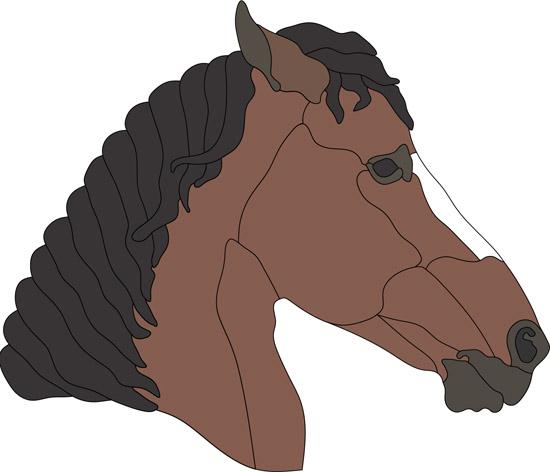 Голова лошади в векторе.