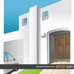 Вход в дом в векторе