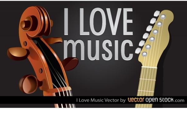 Вектор: Я люблю музыку.