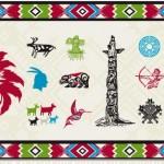 Векторный клипарт индейцы, культура индейцев, тотемы, символы