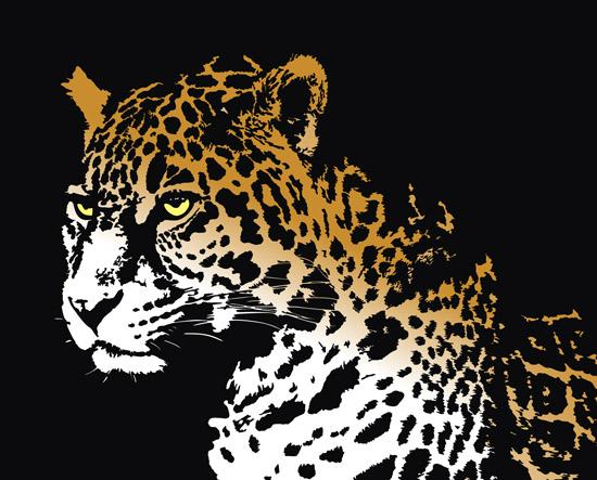 Рисунок ягуара в векторе.