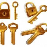 Векторная картинка замков и ключей
