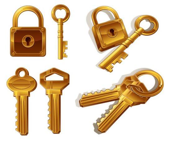 замок, ключи, связка ключей, вектор, формат EPS