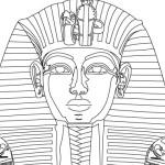 Рисунок фараона Тутанхамона в векторе.