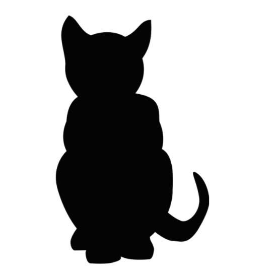 силуэт кошки, трафарет