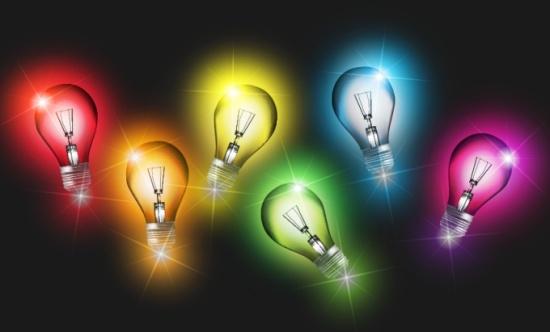 лампы, лампочки,EPS формат,картинка, электричество, свет