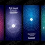 Визитки, баннеры в векторе: точечный источник света