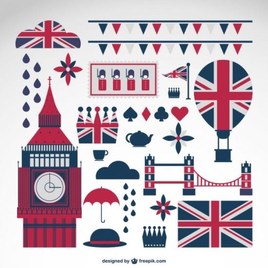 Иконки Англия, Лондон в векторе