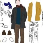 Рисунки мужской одежды в векторе