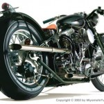 Мотоцикл в векторе. Транспорт.