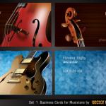 Музыкальные визитки в векторе