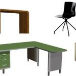 Мебель для офиса в векторе.