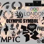 Олимпийские символы в векторе. Силуэт, Трафарет