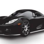 Черный автомобиль Орион в векторе