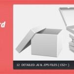 Коробки, упаковка в векторе
