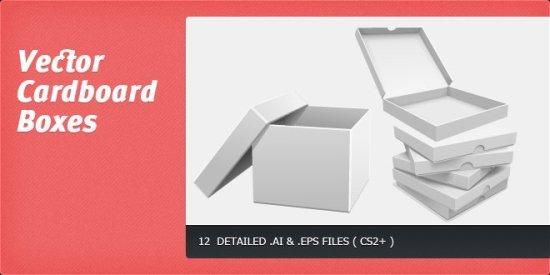 коробки, упаковка, в векторе, формат AI