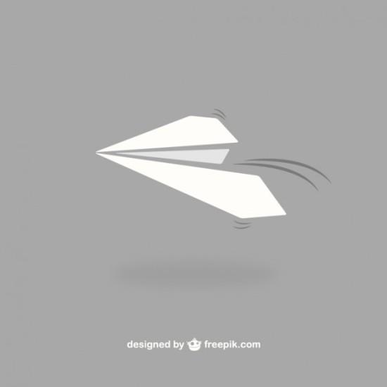 Бумажный самолетик в векторе.