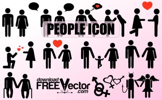 ребенок, родители, влюбленная пара, старики, мужчина, женщина, ангел, дьявол, векторные силуэт, значок, иконка,  формат SVG , EPS , AI