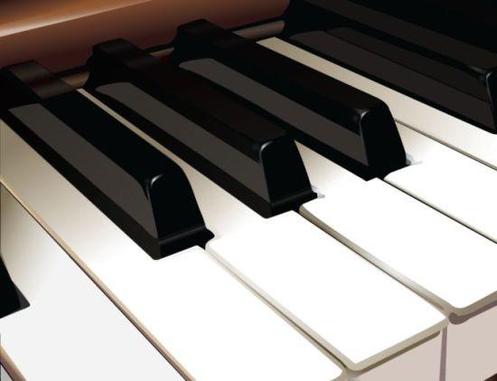 пианино, музыка, белые клавиши, черные клавиши, вектор, формат AI, музыкальный инструмент, фортепьяно