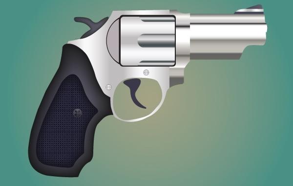 оружие, пистолет, рисунок в векторе, формат AI, ствол пистолета