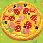 Пицца. Векторный рисунок.
