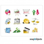 Векторные иконки, клипарт финансы, деньги, бизнес