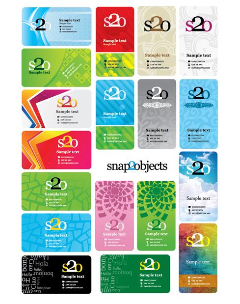 Визитные карточки в векторе. Векторные бизнес визитки. Абстрактный фон.