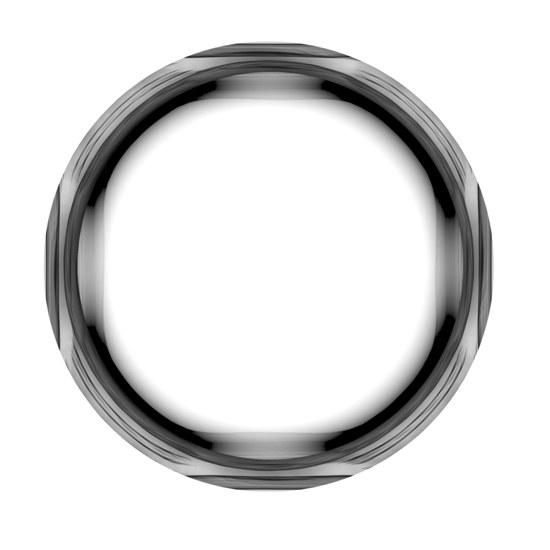 Круглая черно-белая рамка. PSD для фотошопа.