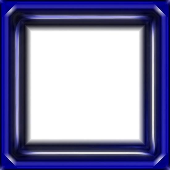 PSD стеклянная синяя рамка.