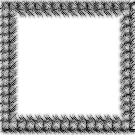 Черно - белая пушистая рамка.